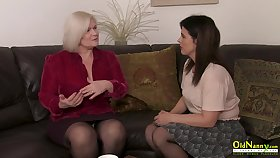 Seductive lesbian video full of mature masturbation fingering and wet pussy abrading