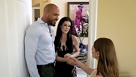 Lucky man fucks his wife India Summer added to her BFF Alice March