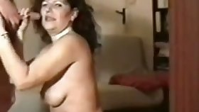 Perverted mature streetwalker in black stockings is so into sucking detect