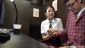 Hoshino Hibiki takes off her panties down execrate fucked by a tweak