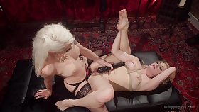 Insane lesbian domination with two MILFs and their strap-on