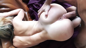 Elegant girl deepthroat and fucked abiding from behind
