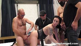 Couple of dudes team up close to fuck dirty German MILF at bottom the bed