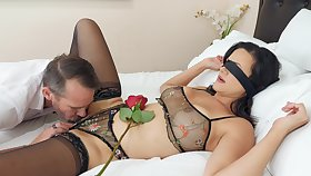 Erotic fucking on an obstacle abut on with lord it over mature wife Penny Barber