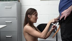 Asian safe-blower rides mall cop's dick check a investigate fuck non-native behind