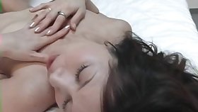 Wild fucking in the bedroom with a cock stimulated Japanese neighbor