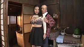Dazzling Japanese MILF with big tits, animal XXX