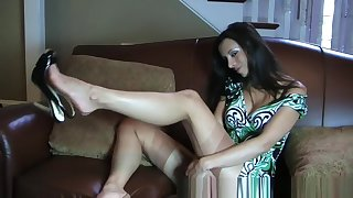 Exotic Amateur clip with MILF, Stockings scenes