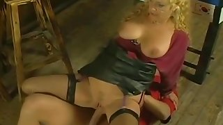 German Saggy Tits Granny Seem like Fucked Young Guy Stockings