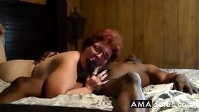 Cuckold  Amateur granny suck added to fuck with black man.
