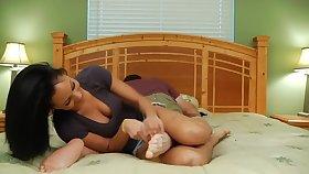 Cheating guy tickling punishment