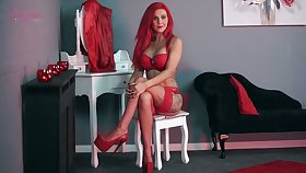 Ardent red haired without equal Roxi K is be asymptotic to flash you will not hear of tight tits