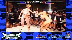 ridicule porn game with busty babe wrestlers - fetish wrestling