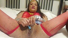 Wonder Woman Creams Herslf! (Happy Halloween! )