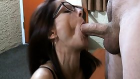 Brunette makes say no to sex fantasies a reality forth cumshot action