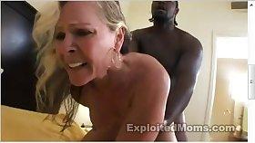 Muscle Cougar Enjoying A Black Penis