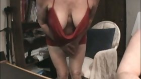 This mature slut has some on target suckable breasts and she is a skillful BJ giver