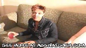 Ebony mature hooker Lisa received cumshot adjacent to her face