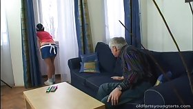Grey vs Young porn photograph with small tits Kristyna C having sex